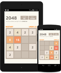 2048 is a mobile-compatible game